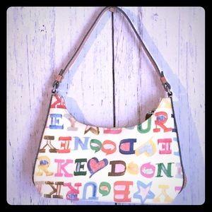 Dooney & Bourke Doodle Hobo Handbag EUC